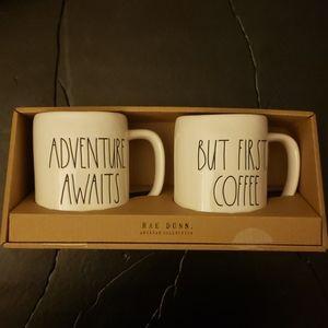 Set of 2 Mugs. Adventure Awaits & But First Coffee